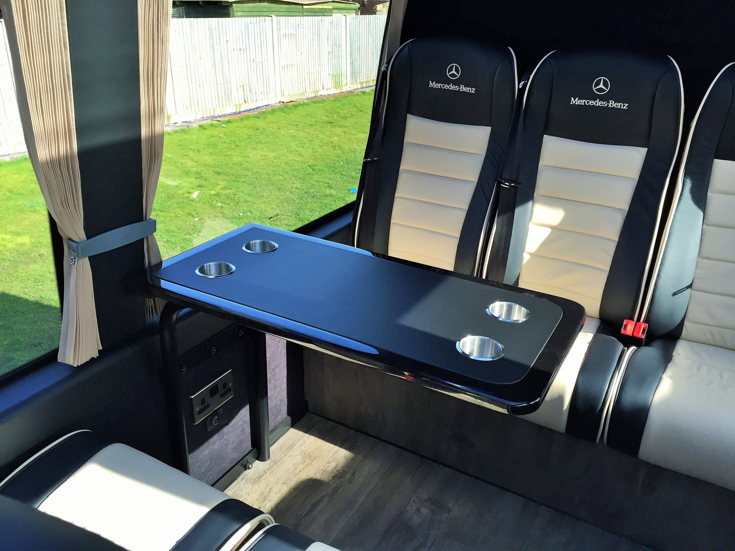 Mercedes-Benz 16 Seater VIP Interior Rear Tables